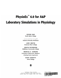 PhysioEx 6  0 for A and P