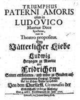Triumphus Paterni Amoris olim in Ludovico Mantuae Duce Spectatus  nunc in Theatro propositus PDF