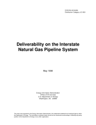 Deliverability On The Interstate Natural Gas Pipeline System Book PDF