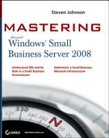 Mastering Microsoft Windows Small Business Server 2008 PDF