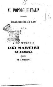 Alla memoria dei martiri di Cosenza parole