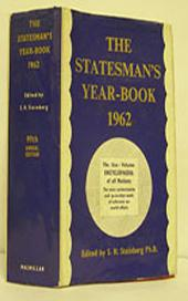 The Statesman's Year-Book 1962: The One-Volume ENCYCLOPAEDIA of all nations, Edition 99
