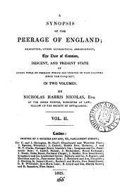 A synopsis of the peerage of England: Volume 2