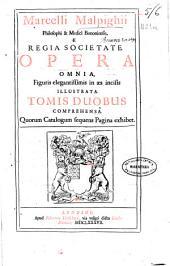 Marcelli Malpighii ... Opera omnia, figuris elegantissimis in aes incisis illustrata: tomis duobus comprehensa, quorum Catalogum sequens Pagina exhibet