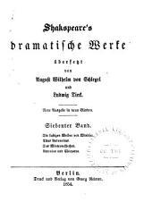 Shakspeare's dramatische Werke: Die lustigen Weiber von Windsor. Titus Andronicus. Das Wintermährchen. Antonius und Cleopatra