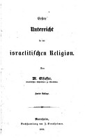 Erster Unterricht in der israelitischen Religion PDF