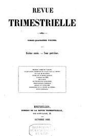 Revue trimestrielle: Volume 6
