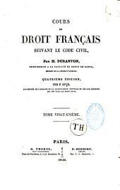 Cours de droit français, suivant le code civil
