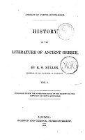 History of the Literature of Ancient Greece by K  O  M  ller PDF