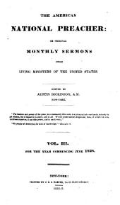 The National Preacher Or Original Monthly Sermons from Living Ministers: Volume 3