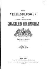 Verhandlungen der Geologischen Bundesanstalt: Band 1894