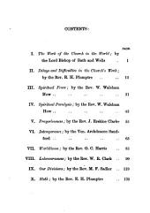 Hindrances to the work of the Church in the world, sermons, by the bishop of Bath and Wells [and others].
