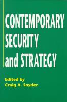 Contemporary Security and Strategy PDF