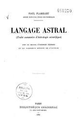 Langage astral: traité sommaire d'astrologie scientifique