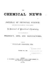 The Chemical News and Journal of Industrial Science: Volume 8