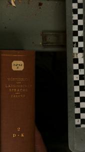 Wörterbuch der latenischen Sprache: nach historisch-genetischen Principien, mit steter Berücksichtigung der Grammatik, Synonymik und Alterthumskunde, Band 2