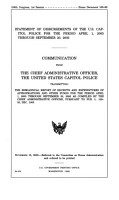Statement of Disbursements of the U S  Capitol Police for the Period April 1  2005 Through September 30  2005 PDF