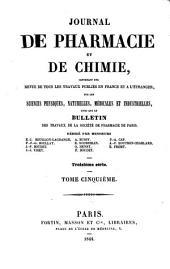 Journal de pharmacie et de chimie: Volume5;Volume1844