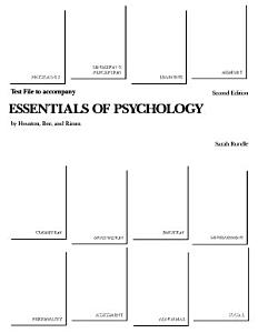 Test File to Accompany Essentials of Psychology Book