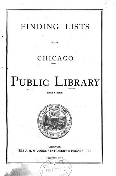 Download Finding List of the Chicago Public Library Book