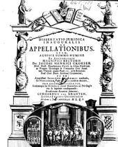 Dissertatio juridica inauguralis de appellationibus