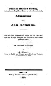 Abhandlung über den Tetanus