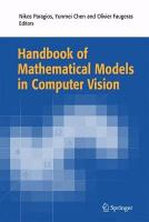 Handbook of Mathematical Models in Computer Vision PDF