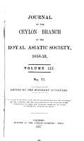 Journal of the Ceylon Branch of the Royal Asiatic Society PDF