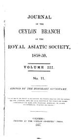 The Journal of the Ceylon Branch of the Royal Asiatic Society of Great Britain & Ireland: Volumes 3-4
