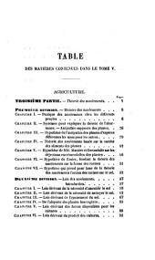 Cours d'agriculture: Volume5