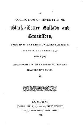 Black Letter Ballads and Broadsides PDF