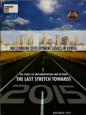Millennium Development Goals  MDGs  Progress in Kenya PDF
