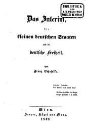 Das Interim, die kleinen deutschen Staaten und die deutsche Freiheit