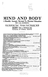 Mind and Body: Volume 27