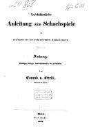 Leichfassliche Anleitung zum Schachspiele in stufenweise fortschreitenden Abtheilungen PDF