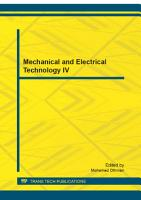 Mechanical and Electrical Technology IV PDF