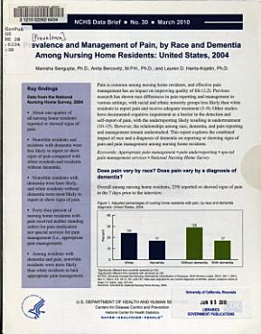 Prevalence and Management of Pain  by Race and Dementia Among Nursing Home Residents PDF