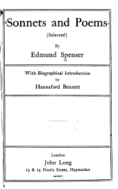 Sonnets and Poems: (selected)