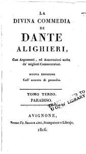 La divina commedia di Dante Alighieri: Volume 3