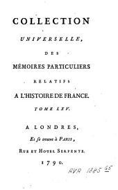 Mémoires [...]: Volume65