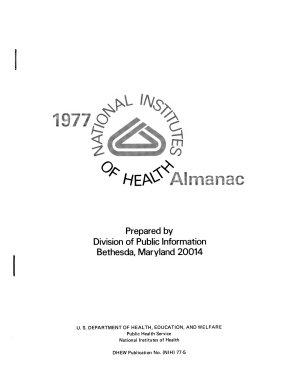 The National Institutes of Health Almanac PDF