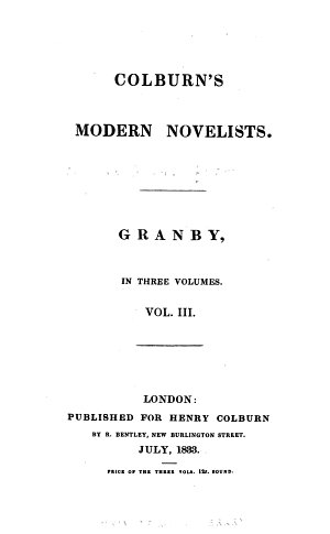 Granby   By T  H  Lister