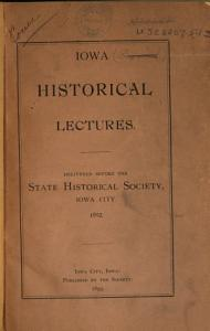 Iowa Historical Lectures PDF