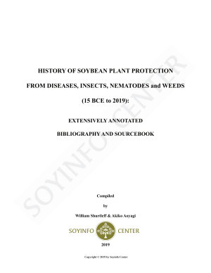 History of Soybean Plant Protection from Diseases  Insects  Nematodes and Weeds  15 BCE to 2019