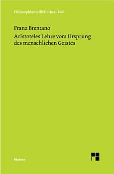 Aristoteles Lehre vom Ursprung des menschlichen Geistes PDF