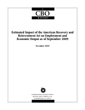 Estimated Impact of the American Recovery and Reinvestment Act on Employment and Economic Output as of September 2009
