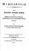 Memorabilien  Eine philosophisch theologische Zeitschrift     von Heinrich Eberhard Gottlob Paulus PDF