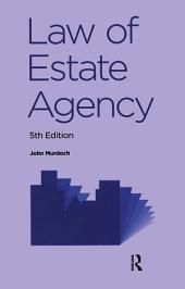 Law of Estate Agency: Edition 5