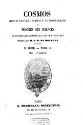 Cosmos: revue encyclopédique hebdomadaire des progrès des sciences et de leurs applications aux arts et à l'industrie, Volume 2