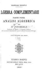 Algebra complementare: Volume 1